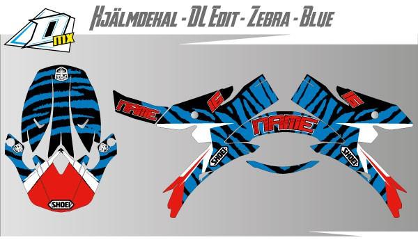 Zebra-Blue